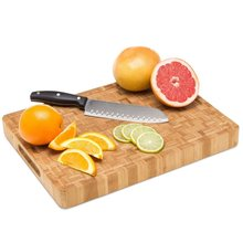 Professional Antibacterial Butcher Block Large End Grain Bamboo Cutting Board