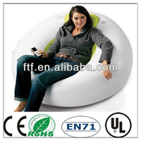 Durable convenient big round indoor PVC inflatable ball sofa