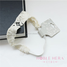 White Knit And Elastic Baby Lace Headbands