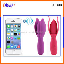 Medical grade silicone sex massager wand flower