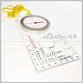 Kearing brand military map compass include liquid filled chamber, declination scale, ruler, lanyard# KMC-1