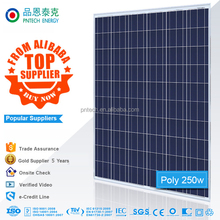 Good quality 250w poly the best lowest price power solar panel china price