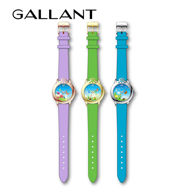 Children watch in fashion color and dial for kids