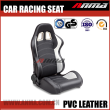 fashionable adjustable pure leather fabrics sports car racing parts seat with simulator