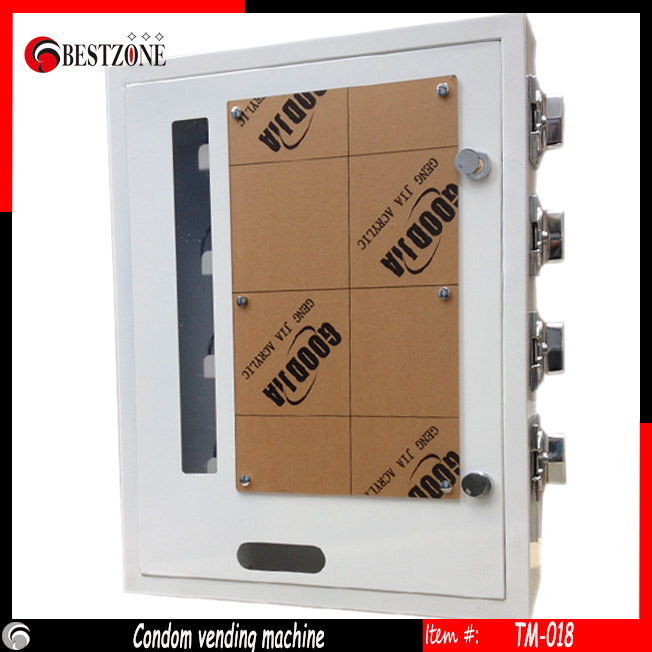 Mechanical Condom /Cigarette /Napkin Vending Machine with 4 channels