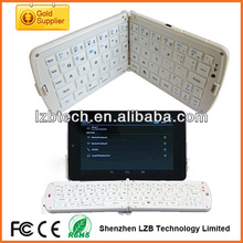 New fashion flexible silicone folding wireless bluetooth keyboard for ipad tablet pc