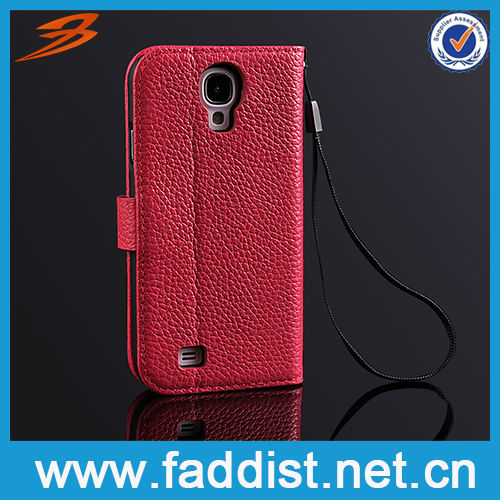 On sale smart phone stand cover for s4 i9500 leather case