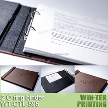 WT-CTL-595 custom leatherette paper cover 2 o binder