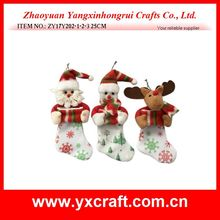 Christmas decoration (ZY17Y202-1-2-3) hanging santa sock item for christmas