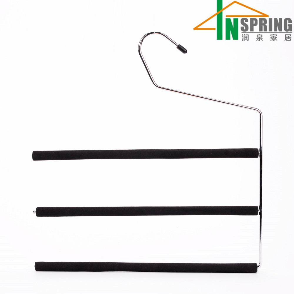Inspring Supplier Metal Foam Pants Hanger for Pants/Skirt/Trousers