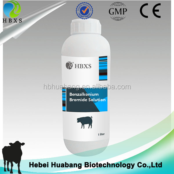 benzalkomium bromide disinfectant solution for escherichia coli