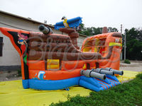 Free Shipping By Sea Hot sale PVC Giant Commercial Inflatable Boat Bouncer