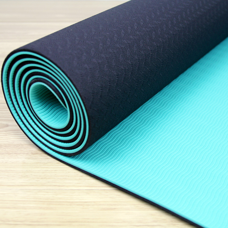 Custom print double layer TPE Yoga Matt For Exercise pvc free