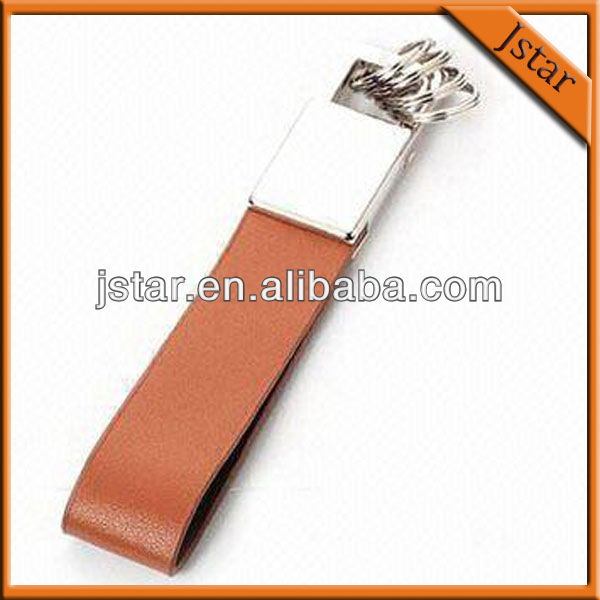 2013 cheapest leather key chain for promotion
