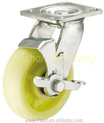 Rough Diamonds Nylon Rotating with Side-brake Caster Industrial Wheels