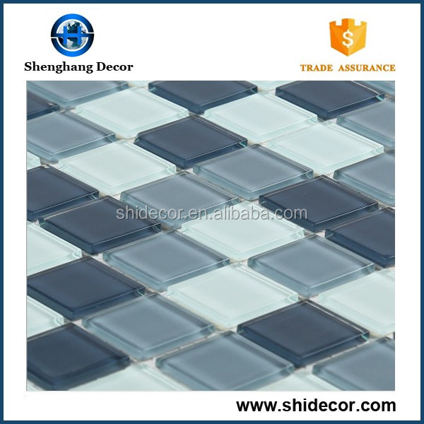 Factory price decorative wall crystal glass mosaic tile