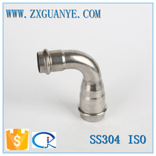 stainless steel 304 316 male famale thread & press reducer 90 degree elbow