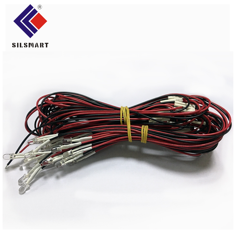 Silsmart custom 12v prewired led diode led rgb led rgb 5mm multicolor led diode 3mm led strip wire for party supplies christmas