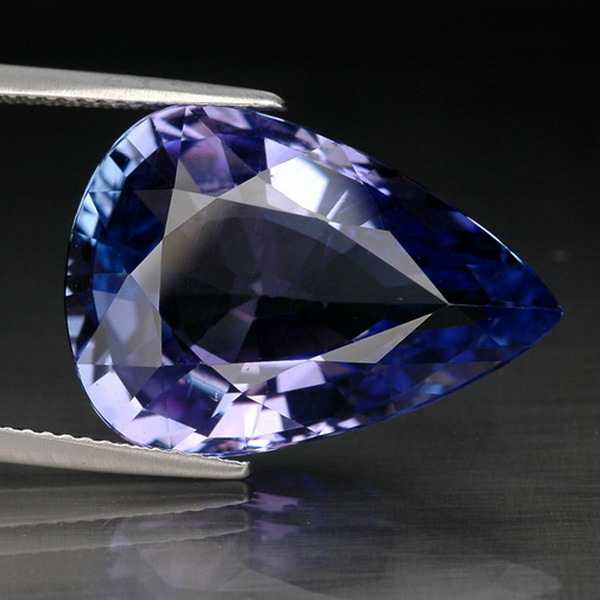 17.33 CT. SENSATIONAL PURPLE BLUE NATURAL TANZANITE with GLC certify
