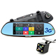 Newest 3G Smart Rearview Mirror DVR 1080p full hd car black box with gps and wifi