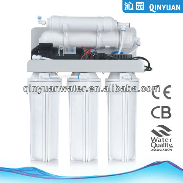 5 stage countop reverse osmosis system with tank and pump
