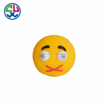Custom made Smile series plastic vinyl toy pop eyes out squeeze toy
