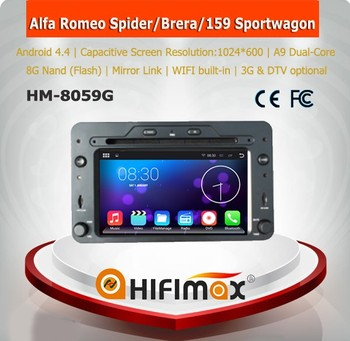 HIFIMAX 6.0 Android Octa-core car dvd gps for Alfa Romeo 159 Spider Brera with 64bit 2G RAM 32GB flash OBD DAB+ TPMS optional