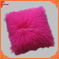 Lamb Fur Cushion, Real Fur Pillow