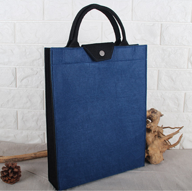 new products 2018 popular trendy good quality felt thick laptop tote bag