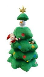 Plush christmas toys christmas tree funny small xmas plush toys