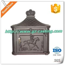 alibaba trade assurance Antique style wall mounted cast aluminum mailbox