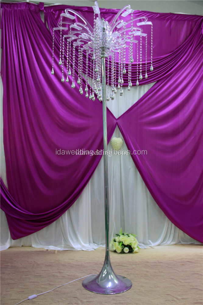 flower stand wedding crystal/crystal candelabra, flower stand tall wedding/wedding cake stand with lights wholesale