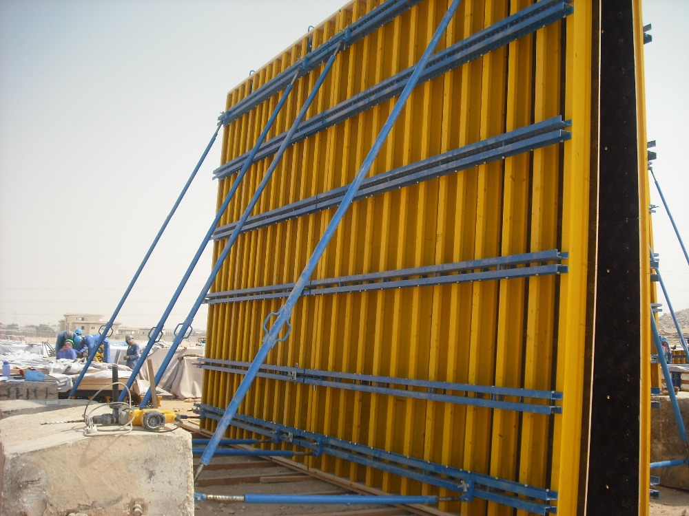 Vertical Shuttering Plywood For Wall : Timber formwork system h beam for construction buy