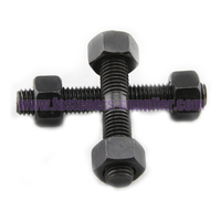 Black Double Threaded Stud Bolt And Nut Made in China