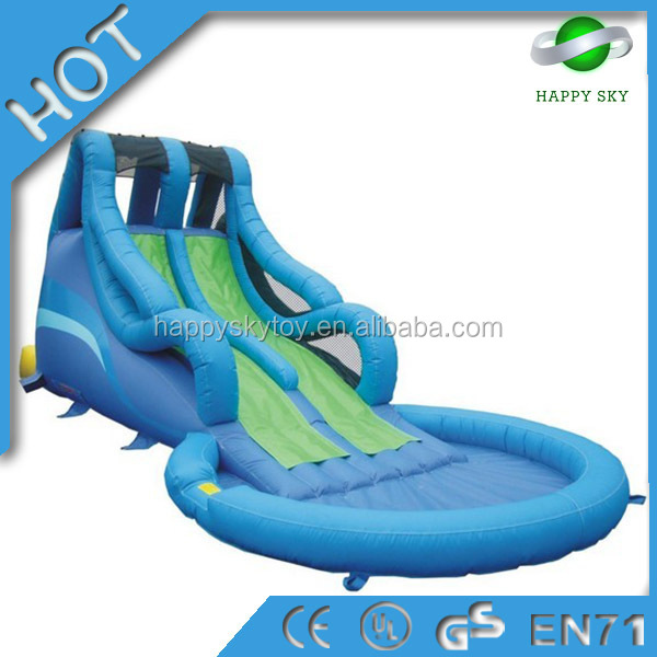 Funny giant inflatable slide with pool,giant inflatable slide,inflatable kid's slide for sale