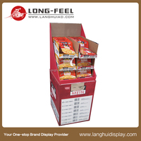 Long feel cardboard display free standing pegboard display stand manufactures