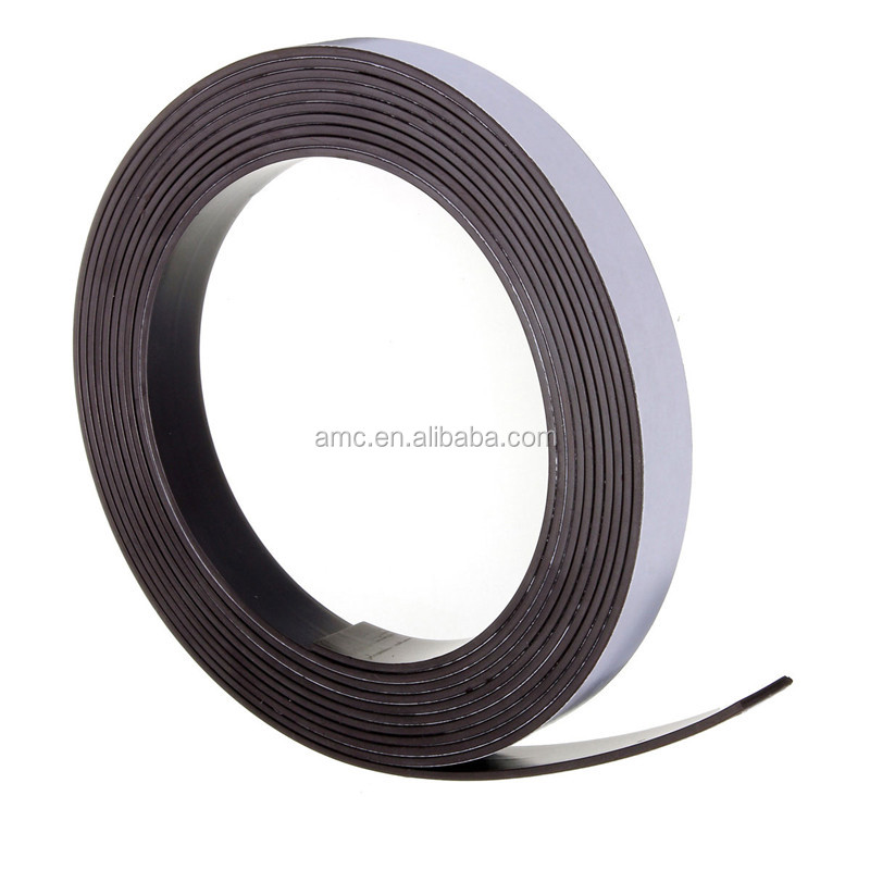 flexible rubber strong magnetic strips with self- adhesive