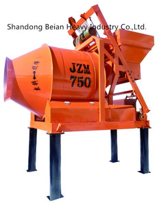 Rotary Drum Concrete Mixer with Plastic Roller Drive