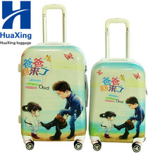 "NEW 20"" 24"" 28"" Wholesale full printing pc luggage bags and cases with removable wheels"