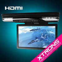 "CR1506-15.6""1080P Video HD Monitor Wide Screen Overhead DVD Player with HDMI Port XTRONS"