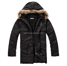 Outdoor fashion style mens fur hoodies jacket