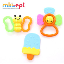 New arrival cartoon silicone baby teether funny baby rattle teether toy on sale