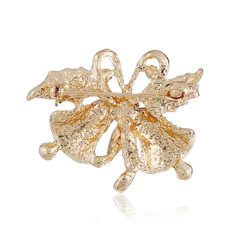 Huilin Customized Vintage Fancy Bow Bells Are Sold Bowknot Brooch Cheap Vintage Brooches For Gift