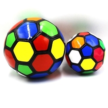 2018 High Quality Kids play colorful soft soccer ball Promotional Gifts Sports Big and Colorful Training Anti-stress Soccer Ball