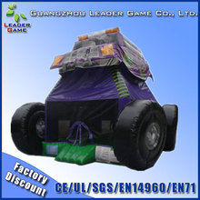Pvc tarpaulin inflatable monster truck bounce house for advertising