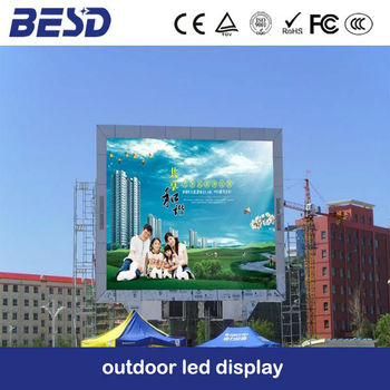SMD outdoor P6 P8 Full color led video sign media wall fix install outdoor 2014