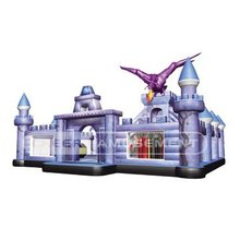 Cheer Amusement Devil Inflatable Castle Inflatable Jumping bouncer for adventure Games with climbing wall