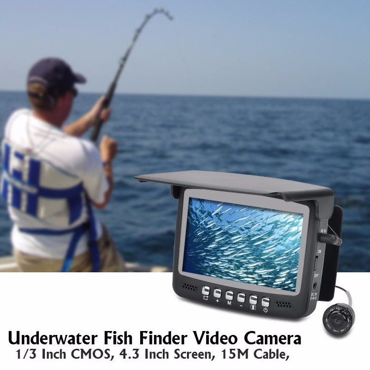"Professional 4.3"" LCD 30m Fish Finder Underwater Ice Fishing Camera"