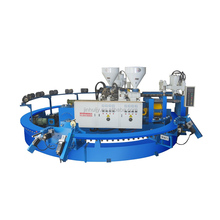 High quality Full automatic two color PVC/PCU Slipper / sandal making machine
