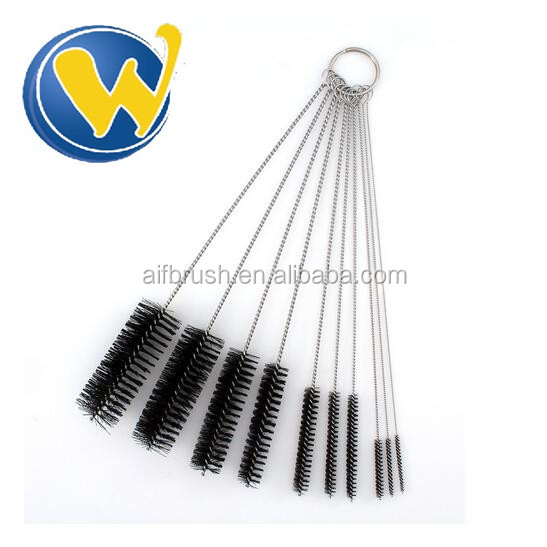 10 Piece Tube Nylon Bristle Airbrush Cleaning Brush set With Competitive Price